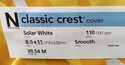 Neenah Classic Crest Solar White Card Stock 110 lb cover / 100 pack