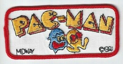 1981 PAC-MAN MIDWAY VIDEO GAME PACMAN  VINTAGE EMBROIDERED PATCH