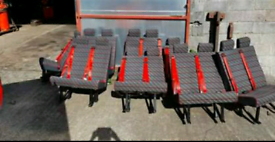 Crew cab mini bus seats