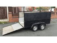 twin wheel axle car trailer