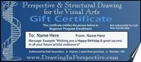 *Gift Certificate* PERSPECTIVE & STRUCTURAL DRAWING ART PROGRAM