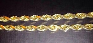 10kt Custom Yellow Gold DiamondCut Solid Rope Chain APPRAISED