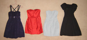 Dresses - sz 2, 4, S, 6, 8, M / Leather Jacket sz S