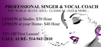 Voice Lessons Fall Special 25% Off
