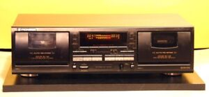 Pioneer Stereo Dual Cassette Tape Deck Model CT-W770.  High End.
