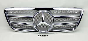 Front Silver & Chrome Hood Sport Grill for Mercedes E Class W210 00-02