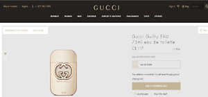 Perfume GUCCI Guilty EAU - eau de toilette 75 ml Parfum