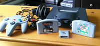 N64 Console with controller, 2 games and memory card