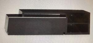 Meuble télé audio -vidéo laqué noir
