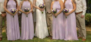 David's Bridal Bridesmaid Dress and Robes