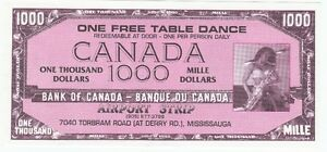 AIRPORT STRIP TABLE DANCE COLLECTIBLE FUNNY MONEY NOVELTY NOTE