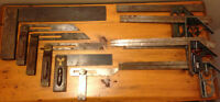 Vintage Stanley bevels and squares plus others