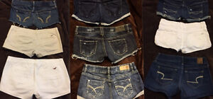 A&F/HOLLISTER/AE/GARAGE SHORTS, ALL 9 FOR $80