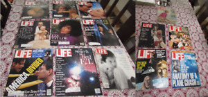 VINTAGE LIFE MAGAZINES * 14 BACK ISSUES * VARIOUS YEARS