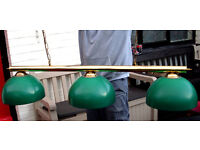 AUTHENTIC PUB POOL TABLE LIGHTS FROM ROSCOE (LEEDS) FOR PUB SHED, MAN CAVE, MICROPUB CLUB, MAN CAVE