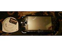 Sony psp black 1gb 1 game