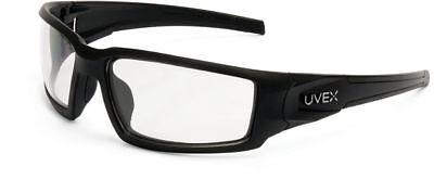 Uvex Hypershock Safety Glasses Black Frame Clear Hydroshield Anti-fog Lens