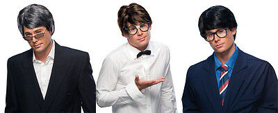 ADULT MENS MALE CHARACTER SHORT STRAIGHT HAIR 60S AUSTIN POWERS NERD COSTUME WIG - Austin Powers Wig