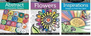 ZENSPIRATIONS-COLORING-BOOKS-Zentangle-Line-Drawing-Altered-Art-Paper-Craft-Book