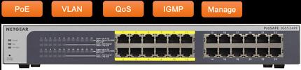 NEW NETGEAR ProSAFE JGS524PE 24-Port Gigabit PoE Network Switch