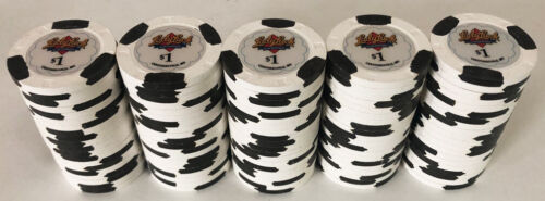 100 $1 LADY LUCK CASINO PAULSON POKER CHIPS