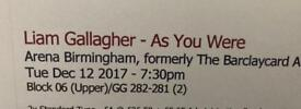 2x Liam Gallagher tickets for Birmingham (SOLD pending dispatch)