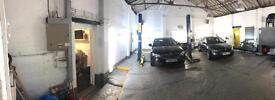 Stockport Garage to rent, 2 post ramp + space, would suit mechanic