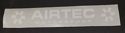 AIRTEC DECAL / STICKER   WHITE 10 x 1.50 ins