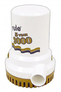 Rule 09 2000 GPH Bilge Pump NIB!