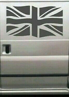 LARGE union jack flag vinyl car bonnet side sticker van boat graphic decal rally