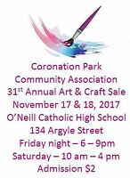 Coronation Park 31st Annual Art, Craft & Vendor Sale