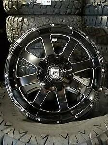 NEW 20x10 BLACK MILLED-HUGE LIP! - Financing available-Dodge-Chevy-gmc-Ford-Tundra-1500 2500 3500-f150 f250-f350-869