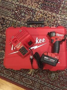 Milwaukee M18 Fuel Impact Driver with 5.0AH Battery and charger