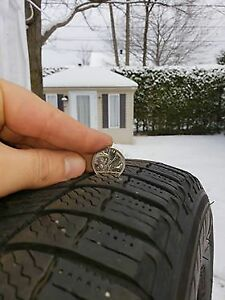 4 pneux d'hiver Michelin X-ice, 215-60-R16, winter tires