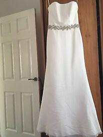 Ecru wedding dress size 10