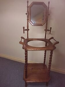 ANTIQUE REPLICA WOODEN STAND FOR WASH BASIN/PITCHER
