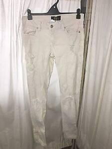DOTTI off-white ripped stretch jeans midrise Preston Darebin Area Preview