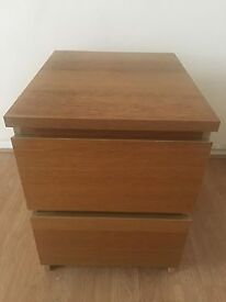 4 x 2 drawer bed side tables