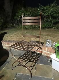 x4 Cast Iron Chairs (Copper coloured)