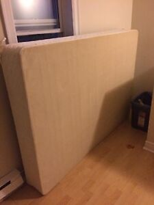 Bed with box spring and frame