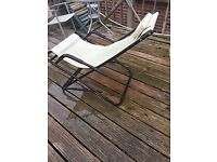 Garden sun louger rocking chair