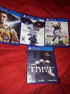 nba live 14,killzone shadow fall,madden 15,theif