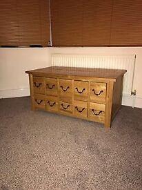 Solid oak large storage chest