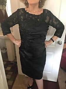BRAND NEW - BLACK MOTHER OF THE BRIDE DRESS - 16W