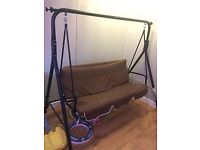 3 seater swing chair-Never been outdoor,hardly used 40 quid