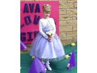 Girls Flower Girl / Bridesmaid / Gala Day dress lilac - age 7-8