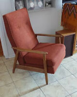 Mid Century Modern High-back Armchair