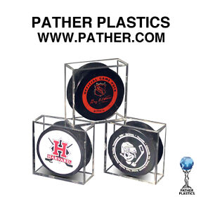 Hockey puck display case from Pather Plastics International