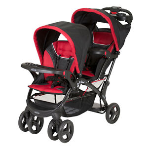 Double stroller and carseat