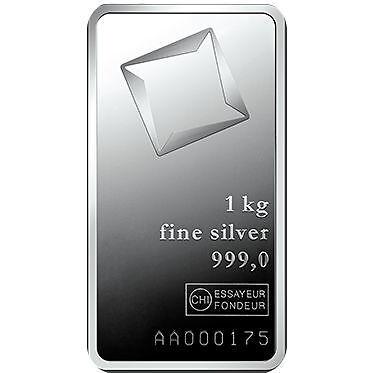 1 Kilo Valcambi Silver Bar - Glossy .999 fine (New w/ Assay)